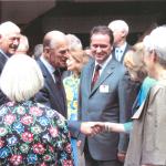 Prince Philip meets Jo Matthews at Shakespeare's Globe